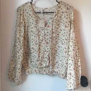 Lovely Mudd Peasant Blouse